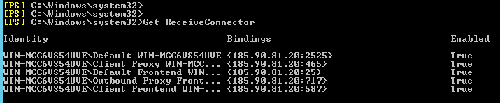 get-receiveconnector